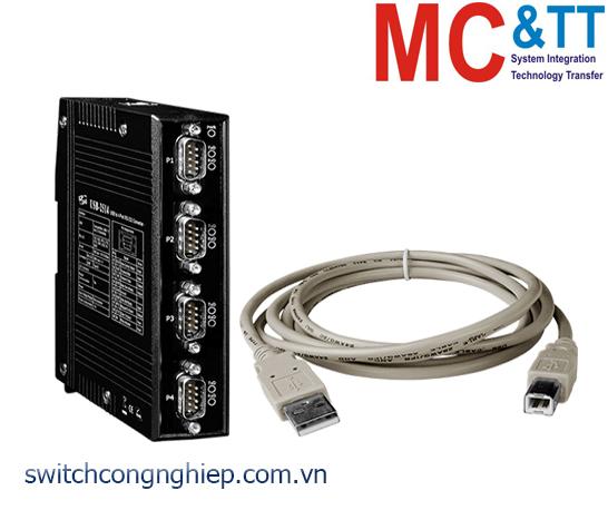 USB-2514 CR: Bộ chuyển đổi tín hiệu USB sang 4 cổng RS-232 ICP DAS