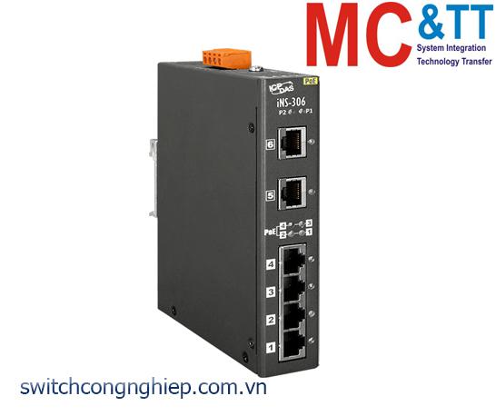 iNS-306 CR: Bộ chuyển mạch IoT 6 cổng Ethernet PoE(PSE) ICP DAS