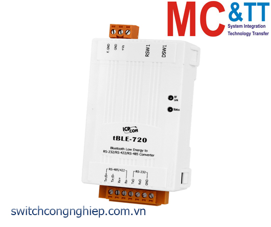 tBLE-720: Bộ chuyển đổi tín hiệu RS-232/422/485 sang Bluetooth LE ICP DAS