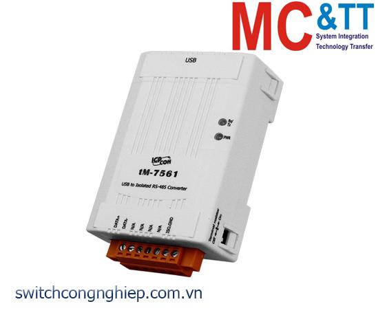 tM-7561 CR: Bộ chuyển đổi tín hiệu USB sang RS-485 cách ly ICP DAS