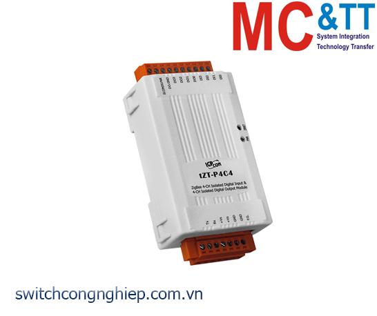 tZT-P4C4: Module ZigBee 4 kênh đầu vào số + 4 kênh đầu ra số ICP DAS