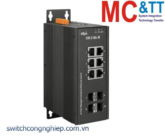 FSM-510G-4F CR: Bộ chuyển mạch công nghiệp 6 cổng Gigabit Ethernet với 4 cổng SFP ICP DAS