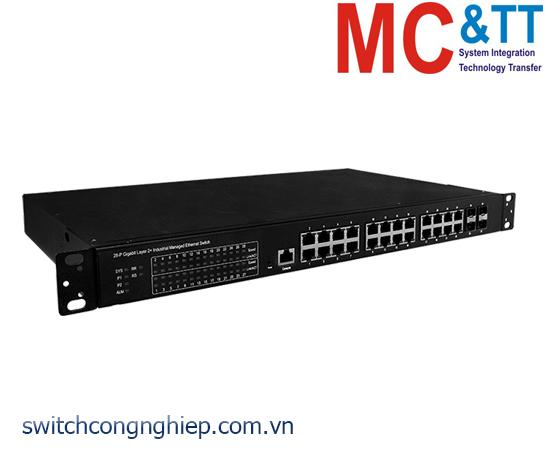 FSM-6228G-AC CR: Bộ chuyển mạch công nghiệp 24 cổng Gigabit Ethernet với 4 cổng SFP ICP DAS