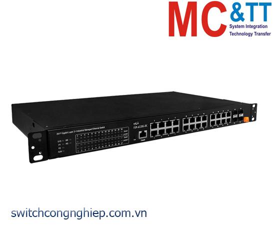 FSM-6228G-DC CR: Bộ chuyển mạch công nghiệp 24 cổng Gigabit Ethernet với 4 cổng SFP ICP DAS