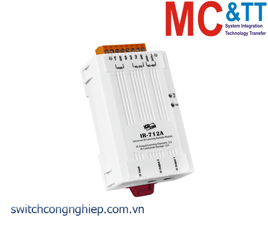 IR-712A-5: Module 2 kênh đầu ra hồng ngoại IR (hỗ trợ Modbus RTU) ICP DAS