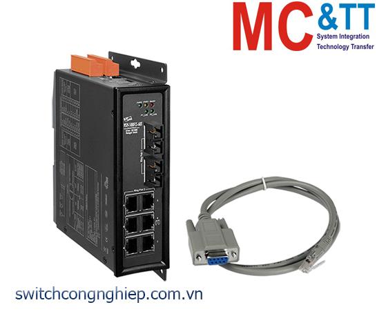 MSM-508FCS-60T CR: Bộ chuyển mạch công nghiệp 8 cổng Ethernet với 2 cổng quang Single-mode SC 60KM ICP DAS