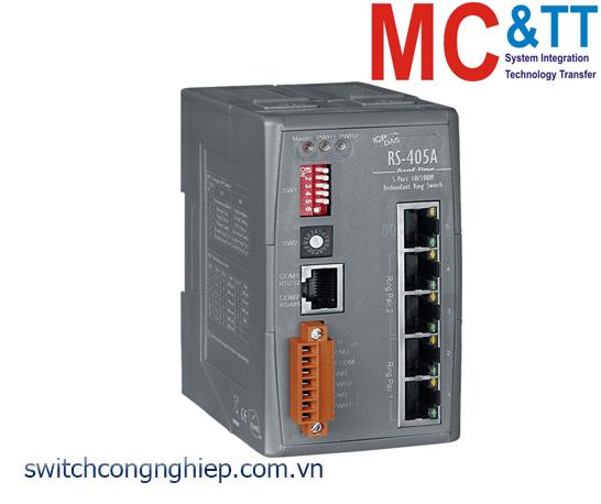 RS-405A CR: Bộ chuyển mạch công nghiệp 5 cổng Ethernet ICP DAS