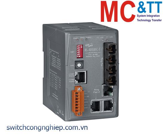 RS-405AFC-T CR: Bộ chuyển mạch công nghiệp 5 cổng Ethernet 2 cổng quang Multi Mode SC ICP DAS