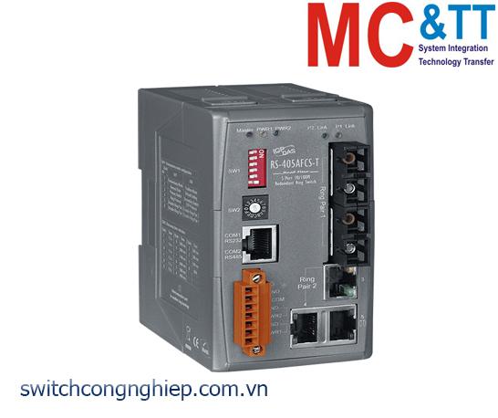 RS-405AFCS-T CR: Bộ chuyển mạch công nghiệp 5 cổng Ethernet 2 cổng quang Single Mode SC ICP DAS