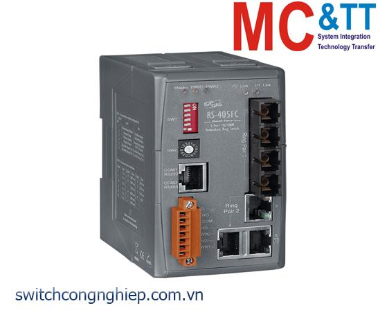 RS-405FC CR: Bộ chuyển mạch công nghiệp 5 cổng Ethernet 2 cổng quang Multi Mode SC ICP DAS