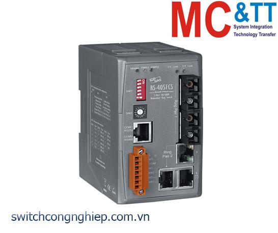 RS-405FCS CR: Bộ chuyển mạch công nghiệp 5 cổng Ethernet 2 cổng quang single Mode SC ICP DAS