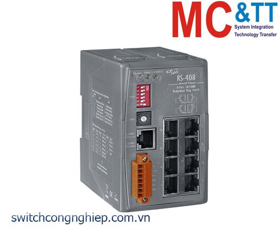 RS-408 CR: Bộ chuyển mạch công nghiệp 8 cổng Ethernet ICP DAS