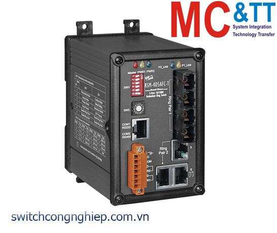 RSM-405AFC-T CR: Bộ chuyển mạch công nghiệp 5 cổng Ethernet 2 cổng quang Multi Mode SC ICP DAS