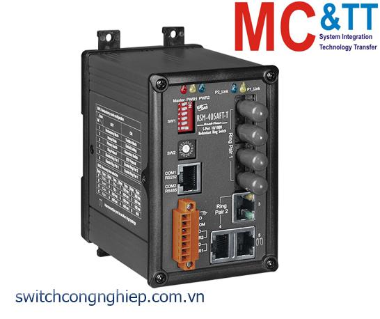 RSM-405AFT-T CR: Bộ chuyển mạch công nghiệp 5 cổng Ethernet 2 cổng quang Multi Mode ST ICP DAS