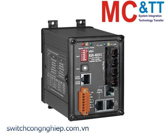 RSM-405FC CR: Bộ chuyển mạch công nghiệp 5 cổng Ethernet 2 cổng quang Multi Mode SC ICP DAS