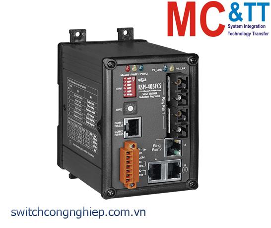 RSM-405FCS CR: Bộ chuyển mạch công nghiệp 5 cổng Ethernet 2 cổng quang single Mode SC ICP DAS