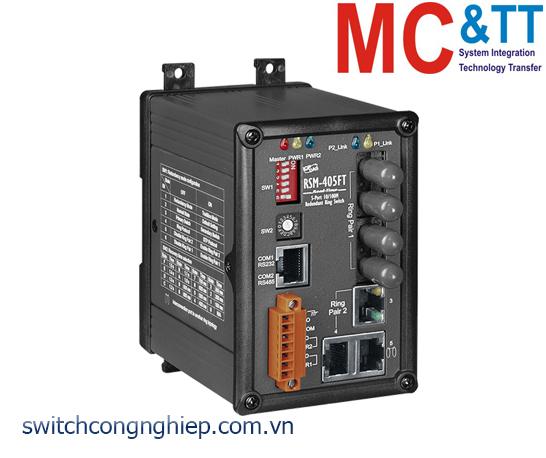 RSM-405FT CR: Bộ chuyển mạch công nghiệp 5 cổng Ethernet 2 cổng quang Multi Mode ST ICP DAS