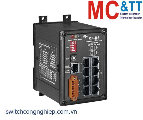 RSM-408 CR: Bộ chuyển mạch công nghiệp 8 cổng Ethernet ICP DAS