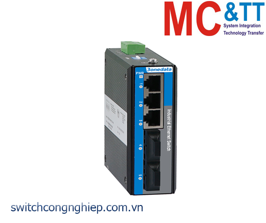 Switch công nghiệp 3 cổng Ethernet + 2 cổng quang 3Onedata IES2105-3T2F-P220