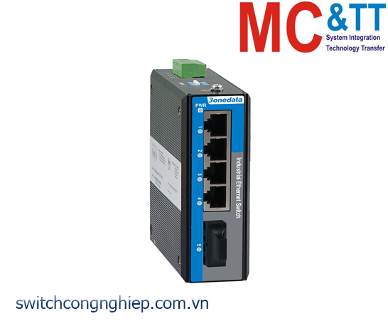 Switch công nghiệp 4 cổng PoE Ethernet + 1 cổng quang 3Onedata IES2105-4P1F-P48