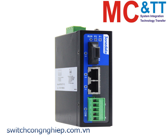 Bộ chuyển đổi quang điện công nghiệp quản lý 2 cổng Ethernet 3Onedata IMC100-2T1F-1D